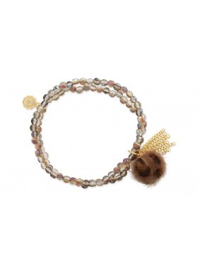 Armband - Brown Bobble