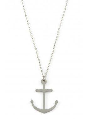 Halskette - Anker Silber