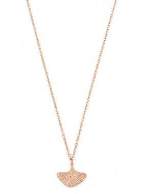 Halskette - Ginkgo Rosegold