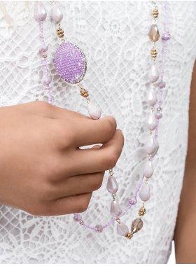 Halskette - Lilac Drop