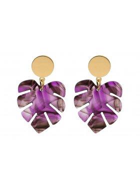 Ohrringe - Purple Palm