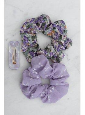 Haarspange - Purple Aja Square