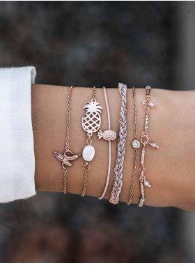 Armband - Braided in Grey