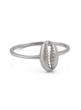 Ring - Silver Kauri Shell EU56