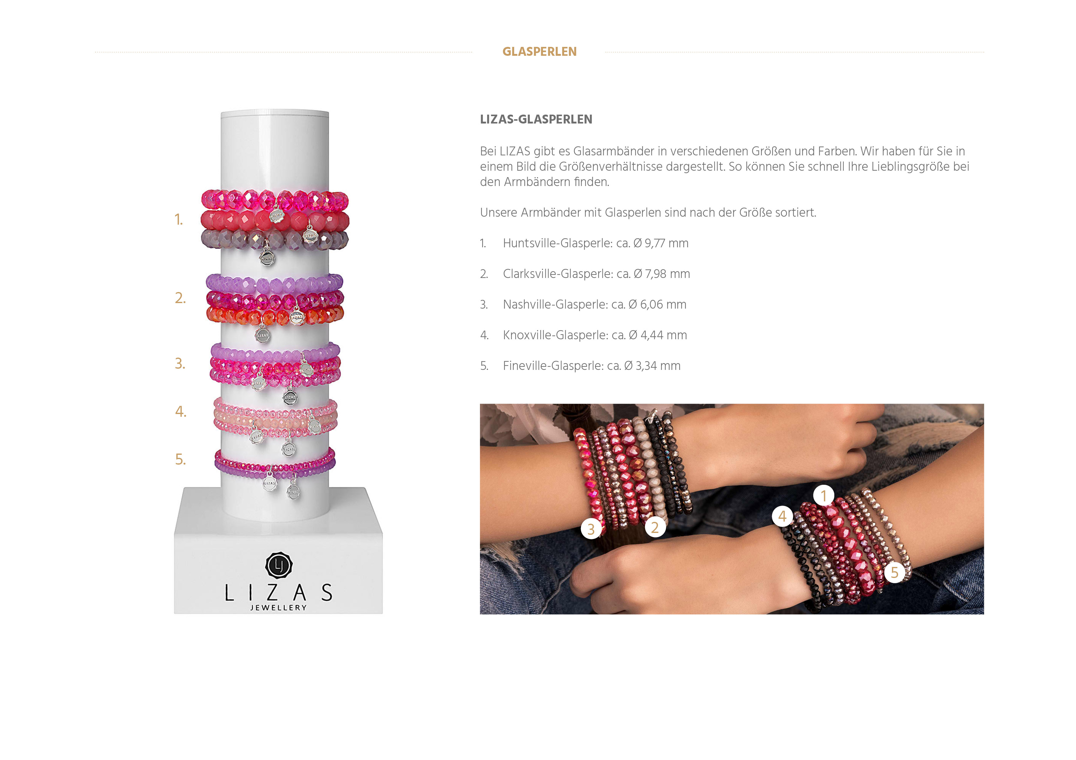 Lizas Armband Bright Moments silber-weiss